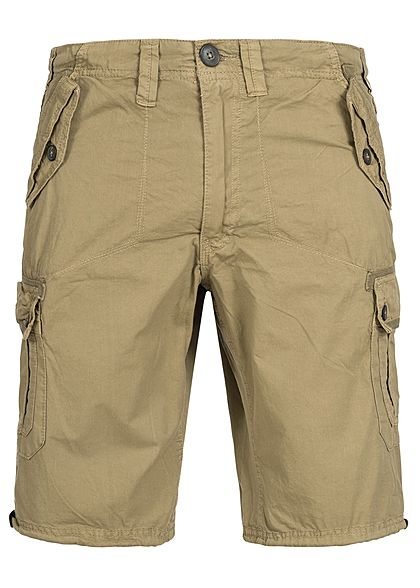 Seventyseven Lifestyle Men Cargo Short 4-Pockets stone beige