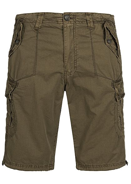 Seventyseven Lifestyle Men Cargo Short 4-Pockets khaki
