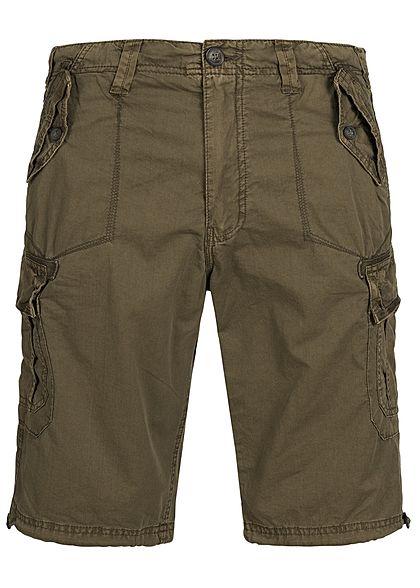 dd679f999392 Seventyseven Lifestyle Men Cargo Short 4-Pockets khaki - 77onlineshop