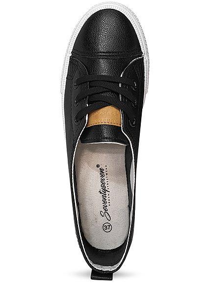 Seventyseven Lifestyle Schuh Damen Sneaker zum Schnüren schwarz