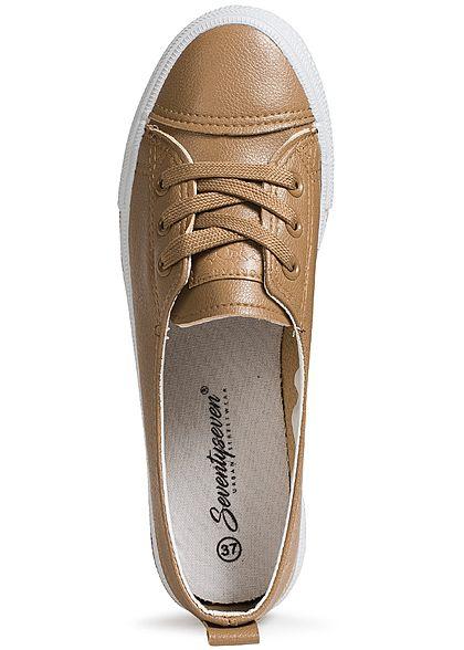 Seventyseven Lifestyle Schuh Damen Sneaker zum Schnüren braun
