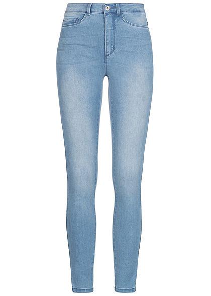 39a08ebc0835 ONLY Damen Skinny Jeans Hose 5-Pockets High Waist hell blau denim ...