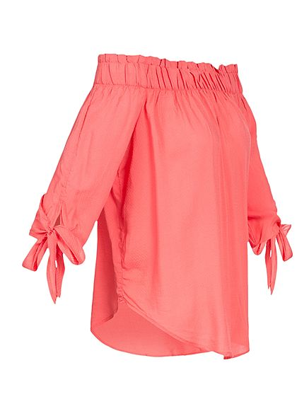 JDY by ONLY Damen Off-Shoulder Top rose of sharon dunkel pink