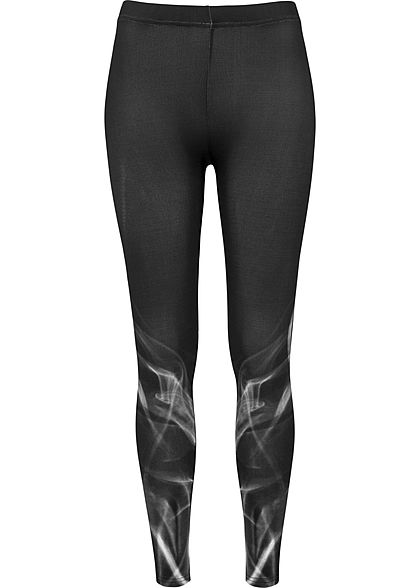 Seventyseven LifestyleTB Damen Leggings Smoke Optik schwarz weiss