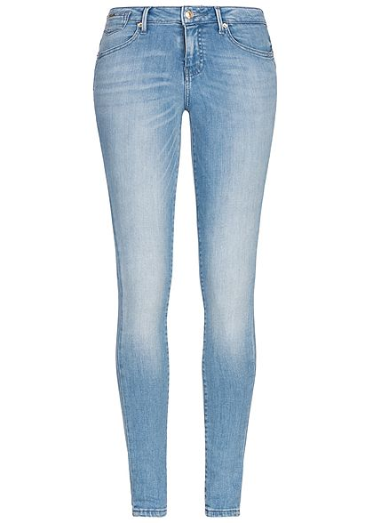 ONLY Damen Skinny Jeans Hose 5-Pockets Regular Waist NOOS hell blau denim