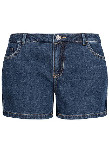 ONLY Damen Jeans Short 5-Pockets Regular Waist dunkel blau denim