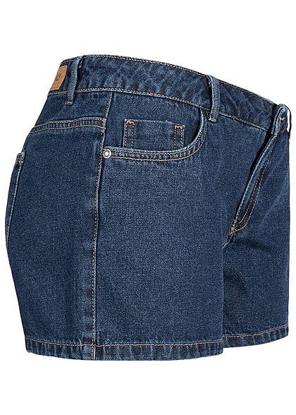 ONLY Damen Jeans Short 5-Pockets Regular Waist dunkel blau denim