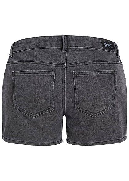 ONLY Damen Jeans Short 5-Pockets Regular Waist schwarz denim