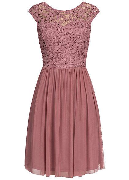 Only strickkleid rosa grau