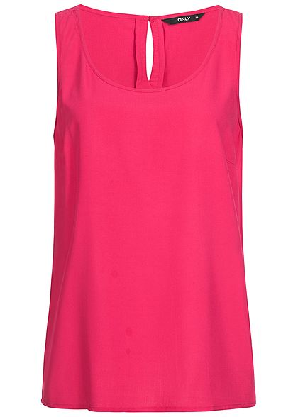 ONLY Damen Blusen Top virtual dunkel pink