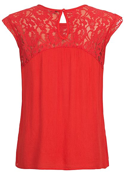 ONLY Damen Lace Top NOOS high risk rot