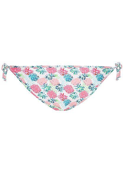 Hailys Damen Bikini-Slip Ananas Print weiss pink