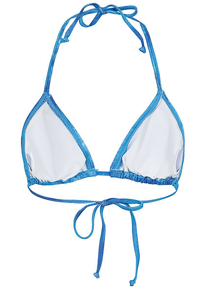 Hailys Damen Triangel-Bikini azur blau