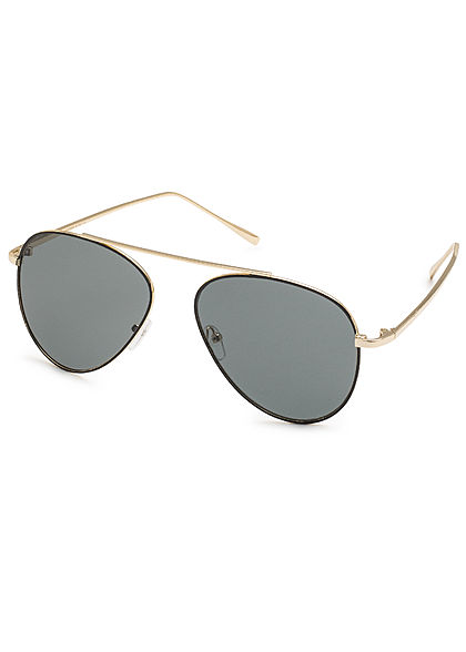 Hailys Damen Sonnenbrille UV-Schutz 400 gold schwarz blau