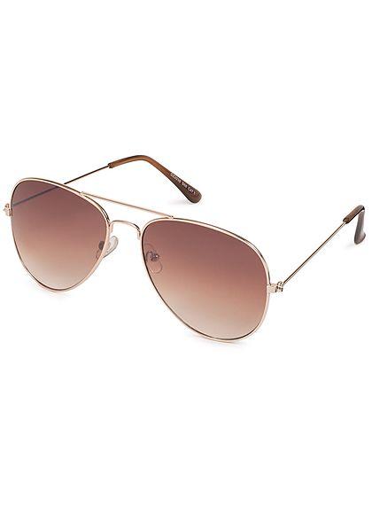 Seventyseven Lifestyle Damen Sonnenbrille UV-Schutz 400 gold braun
