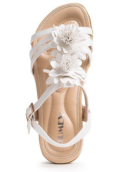 918f54c38cf207 Seventyseven Lifestyle Schuh Damen SandaleTüll Blumen weiss - 77onlineshop