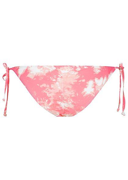 Hailys Damen Bikini-Slip rosa weiss