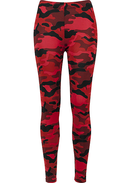 Seventyseven LifestyleTB Damen Camouflage Leggings rot camouflage