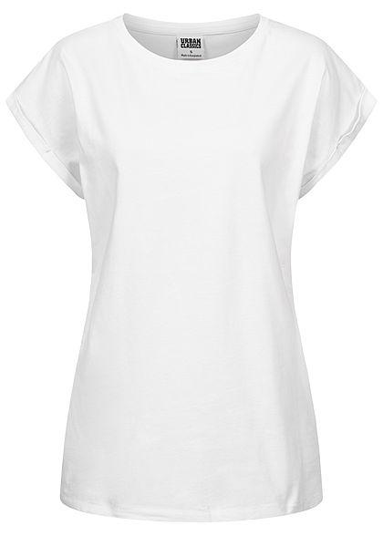 Urban Classics Damen T Shirt Ladies Urban Classics Logo Shirt