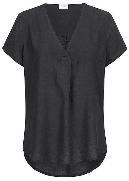 JDY by ONLY Damen Blusen Shirt Vokuhila schwarz
