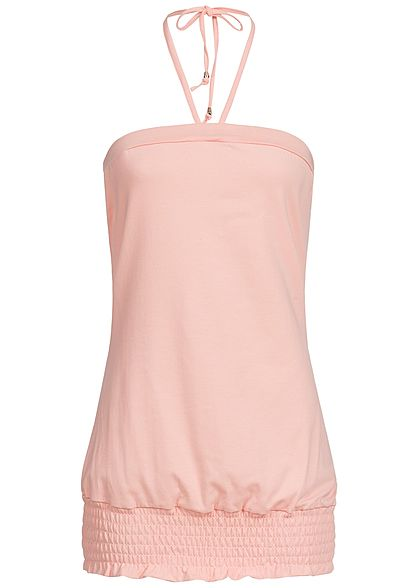 Styleboom Fashion Damen Neckholder Top rosa
