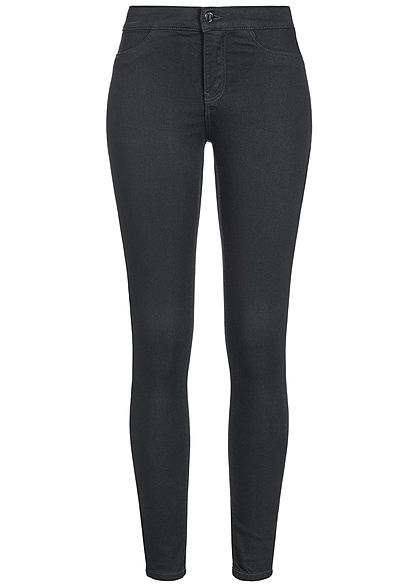 JDY by ONLY Damen Jeggings Jeans Hose 2 Deko Taschen NOOS schwarz denim