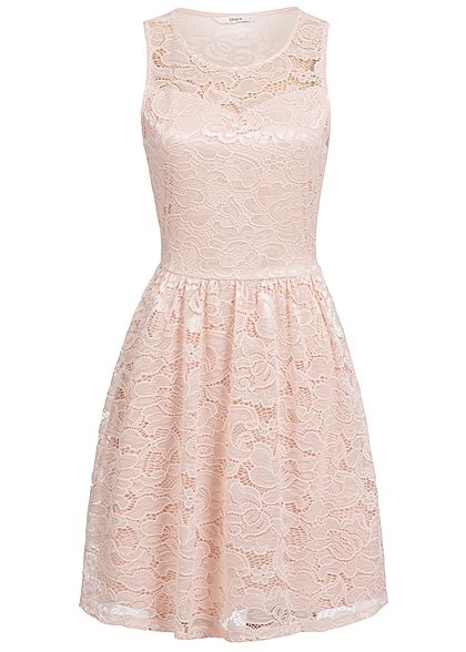 ONLY Damen Mini Lace Dress 2-Layer smoke rosa