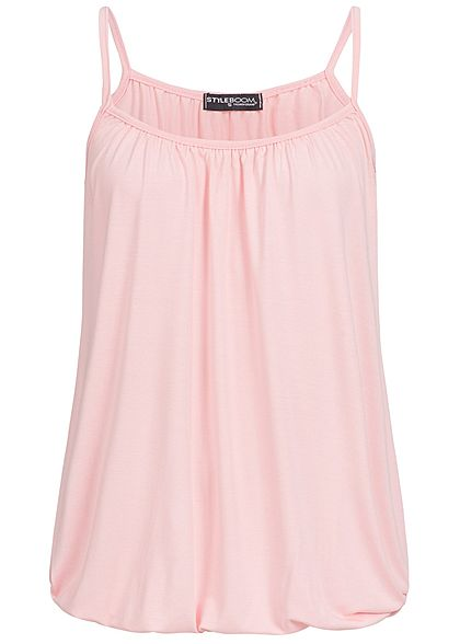 Styleboom Fashion Damen Basic Träger-Top rosa