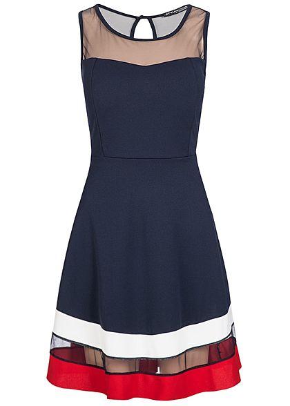 Kleider blau rot