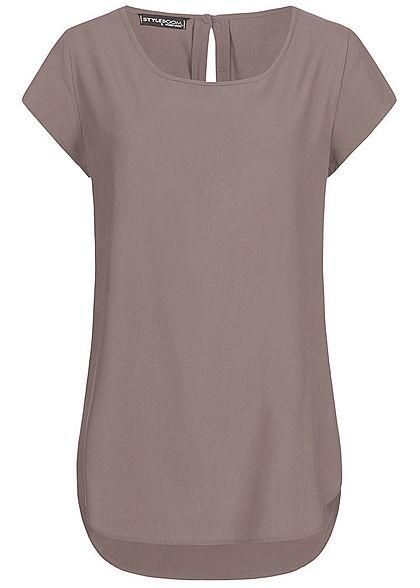 3001a7986a95 Styleboom Fashion Damen Mini Kleid 2-lagig Bindegürtel rosa ...