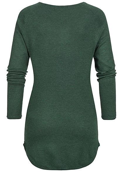 ONLY Damen NOOS Long Pullover mit Rollkante am Saum gables grün