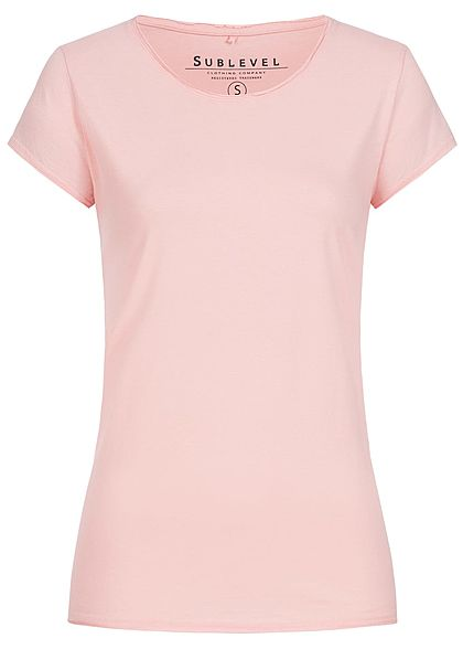 Eight2Nine Damen T-Shirt Basic by Sublevel hell rosa