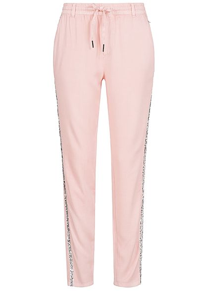 Eight2Nine Damen Stoff Hose 2 Taschen ballett rosa