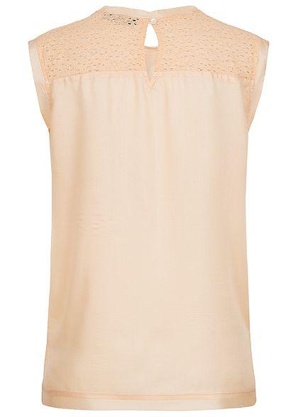 Eight2Nine Damen Blusen Top Spitze bleached apricot beige