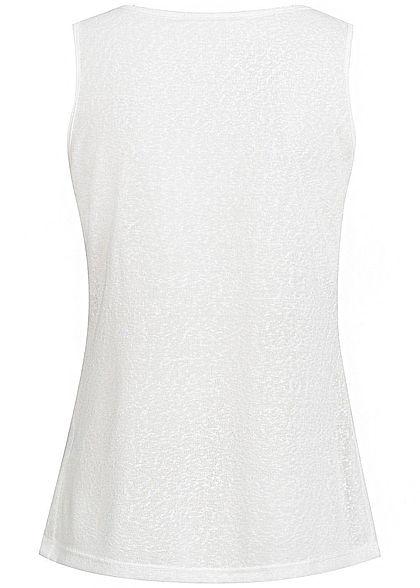 Styleboom Fashion Damen Tank Top Traumfänger Print off weiss schwarz