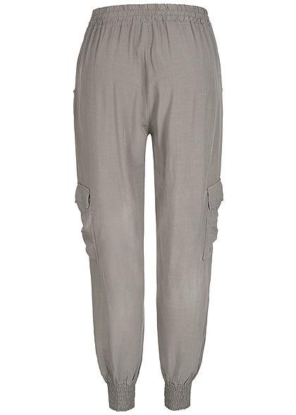 Styleboom Fashion Damen Sommer Cargo Hose 4-Pockets fango braun