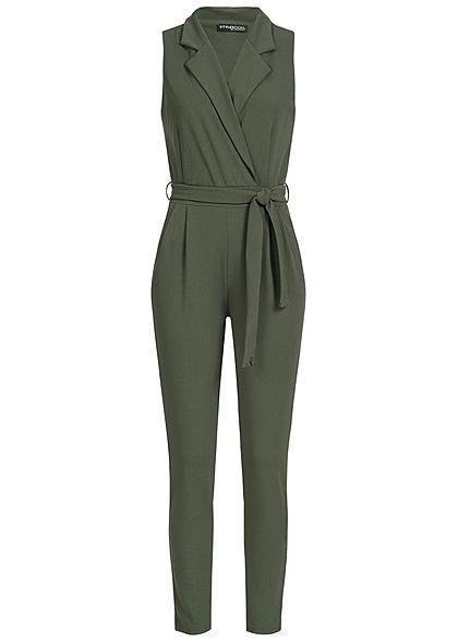 S · M · L · XL · XXL · Styleboom Fashion Damen Jumpsuit Wickeloptik 2  Taschen ... 49a2c3723a