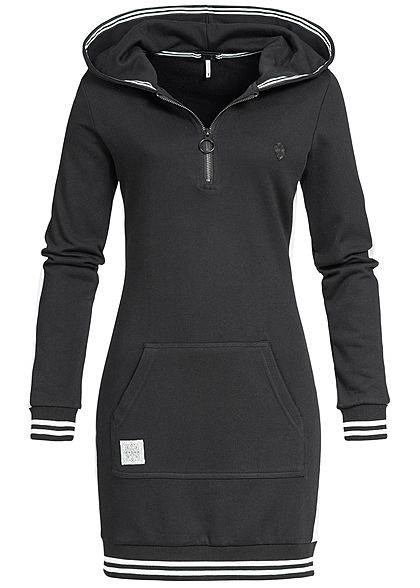 Hoodie kleid damen schwarz