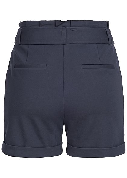 ONLY Damen Paperbag Poptrash Shorts 2 Taschen night sky blau