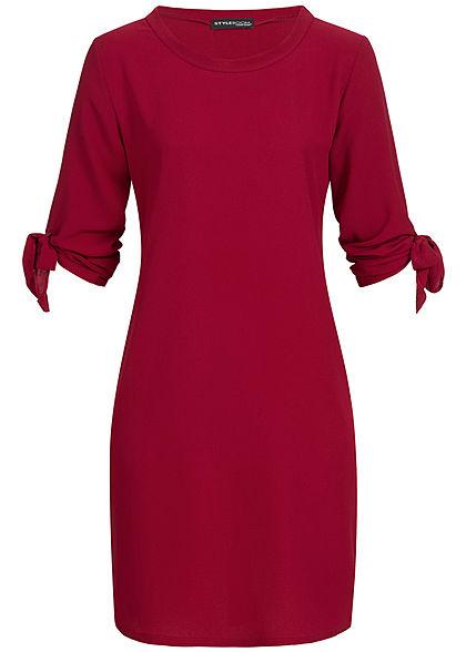 Kleid a linie bordeaux