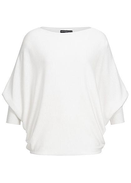 8ff29b4077008d Styleboom Fashion Damen Bat Wings Shirt weiss - 77onlineshop