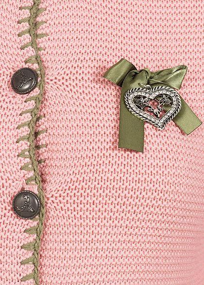 Seventyseven Lifestyle Damen Trachten Strickjacke rosa