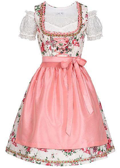 seventyseven lifestyle damen dirndl kleid mit sch rze bluse rosa weiss 77onlineshop. Black Bedroom Furniture Sets. Home Design Ideas
