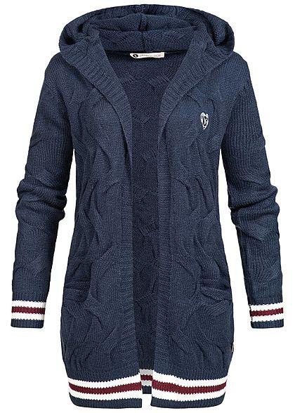 Etwas Neues genug Aiki Damen Cardigan Kapuze 2 Taschen navy blau - 77onlineshop @RD_37