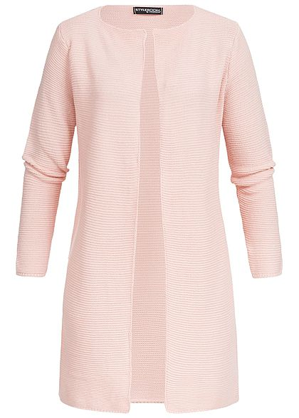 Styleboom Fashion Damen Strick Cardigan rosa