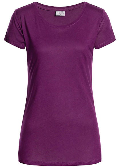 Eight2Nine Damen T-Shirt by Stitch & Soul dunkel lila
