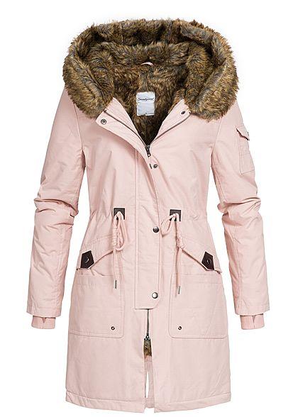 Mantel mit kapuze rosa