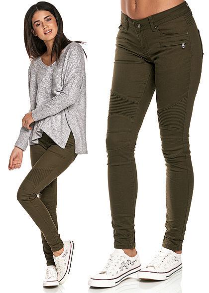 seventyseven lifestyle damen biker jeans hose 5 pockets. Black Bedroom Furniture Sets. Home Design Ideas