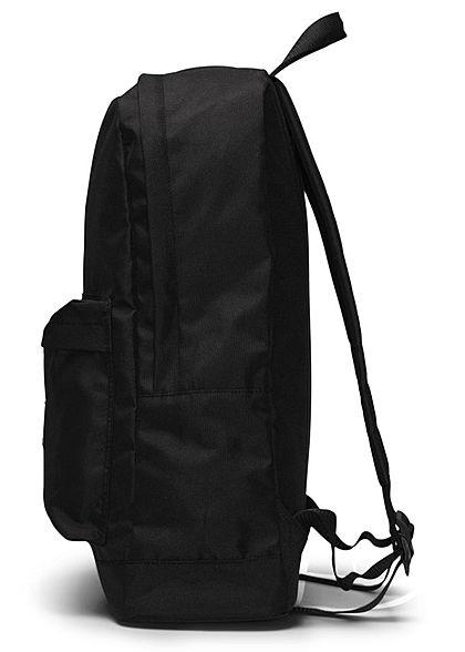 Jack and Jones Herren Basic Rucksack mit einem Fach und Fronttasche schwarz
