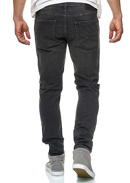 Jack and Jones Herren Jeans Hose Slim Fit 5-Pockets dunkel grau denim